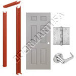 Knock Down Frame & 6-Panel Hollow Metal Door Cylindrical Unit