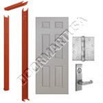 Knock Down Frame & 6-Panel Hollow Metal Door Mortise Unit