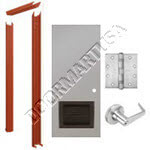 Knock Down Frame & Hollow Metal Door with Louver Cylindrical Unit