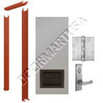 Knock Down Frame & Hollow Metal Door with Louver Mortise Unit