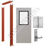 Knock Down Frame & Hollow Metal Door with Vision Lite Mortise Unit