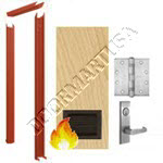 Knock Down Frame & Solid Core Architectural Birch Wood Door with Louver Mortise Unit - Fire Rated