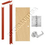Knock Down Frame 16 Gauge & Solid Core Economy Birch Wood Door Cylindrical Unit