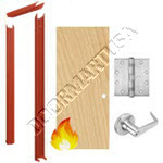 Knock Down Frame 16 Gauge & Solid Core Economy Birch Wood Door Cylindrical Unit - Fire Rated