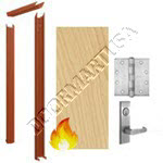 Knock Down Frame 16 Gauge & Solid Core Architectural Birch Wood Door Mortise Unit - Fire Rated