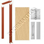 Knock Down Frame & Solid Core Economy Birch Wood Door Push/Pull Unit