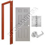 Welded Frame & 6-Panel Hollow Metal Door Cylindrical Unit