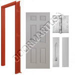 Welded Frame & 6-Panel Hollow Metal Door Push/Pull Unit