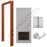 Welded Frame & Hollow Metal Door with Louver Cylindrical Unit