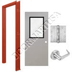 Welded Frame & Hollow Metal Door with Vision Lite Cylindrical Unit