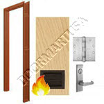 Welded Frame & Solid Core Architectural Birch Wood Door with Louver Mortise Unit - Fire Rated