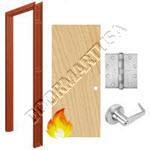 Welded Frame 16 Gauge & Solid Core Economy Birch Wood Door Cylindrical Unit - Fire Rated
