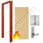 Welded Frame 16 Gauge & Solid Core Architectural Birch Wood Door Mortise Unit - Fire Rated