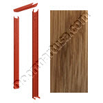 Knock Down Frame 16 Gauge With Plain Sliced Red Oak Prefinished Solid Core Wood Door