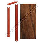 Knock Down Frame 16 Gauge With Masonite Plain Sliced Red