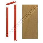Knock Down Frame 16 Gauge With Rotary Natural Birch Prefinished Solid Core Wood Door