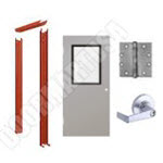 Knock Down Frame & Hollow Metal Door with Vision Lite Cylindrical Unit