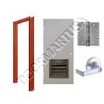 Hollow Metal Door with Louver & Hardware Packages