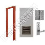 Welded Frame & Hollow Metal Door with Louver Mortise Unit