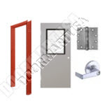 Hollow Metal Door with Vision Lite & Hardware Packages