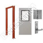 Welded Frame & Hollow Metal Door with Vision Lite Mortise Unit