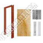 Welded Frame & Solid Core Economy Birch Wood Door Push/Pull Unit