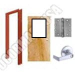 Economy Birch Door with Vision Lite & Hardware Packages