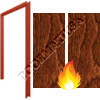 Welded Pair Frame 16GA & Prefinished Wood Door 161 Cylindrical Prep & Inactive Fire Rated